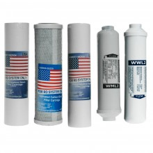Replacement cartridges set for RO6 osmosis filter