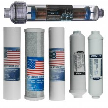 Wymienne wkłady komplet do filtra osmozy RO7 AIFIR 2000
