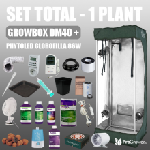 Complete Kit - 1 PLANT - Growbox DM40 + CLOROFILLA LED (with nutrients)