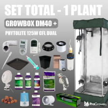Complete Kit - 1 PLANT - Growbox DM40 + Phytolite 125W CFL Dual, with nutrients