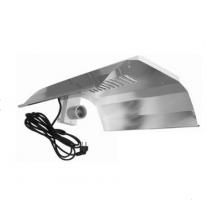 Wzmacniany odbłyśnik lustrzany, z gniazdem E.40 oraz kablem, do CFL, MH i HPS
