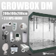 Complete Kit: Growbox DiamondRoom 200x100x200cm + 2 x HPS 400W
