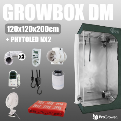 Complete Kit: Growbox DiamondRoom 120 + PhytoLED NX2