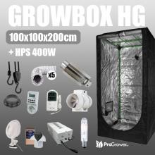 Zestaw do uprawy: Growbox HG 100x100x200cm + HPS 400W