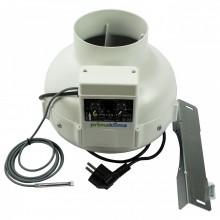 Prima Klima fi-125mm, 400 m³/h, wentylator promieniowy, regulacja obrotów, czujnik temp.