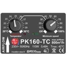 Prima Klima fi-160mm, 800 m³/h, wentylator promieniowy, regulacja obrotów, czujnik temp.