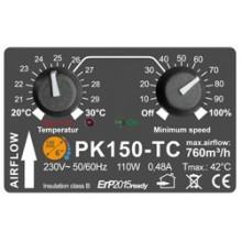 Prima Klima fi-150mm, 760 m³/h, wentylator promieniowy, regulacja obrotów, czujnik temp.