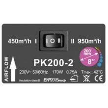 Prima Klima fi-200mm, 450-950 m³/h, wentylator promieniowy, 2-biegowy