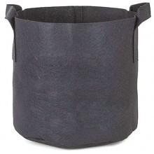 Doniczka materiałowa 20L 30x25cm, z uchwytami, czarna