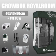 Zestaw do uprawy: Growbox RoyalRoom 40x40x80cm + CFL 85W