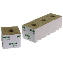 Grodan Rockwool Block 10x10x6.5cm Hole 27mm (1 pc)