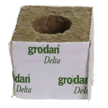 Grodan Rockwool Block 10x10x10cm Hole 42mm (1 pc)