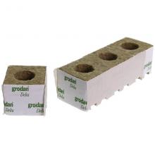 Grodan Rockwool Block 10x10x10cm Hole 42mm (1 pc)
