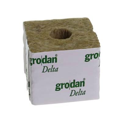 Grodan Rockwool Block 7.5x7.5x6.5cm Hole 27mm (1 pc)