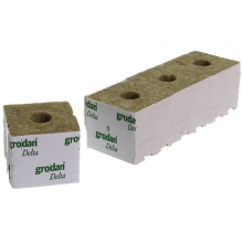 Grodan Rockwool Block 7.5x7.5x6.5cm Hole 27mm (1 pc)
