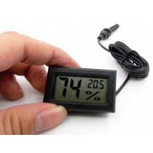 Mini Electronic Digital Thermometer Hygrometer with Wired Temp Humidity Probe