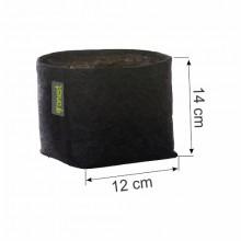 Doniczka materiałowa GRONEST 2L 12x12xh14cm, z uchwytami, dwuwarstwowa