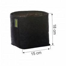 Doniczka materiałowa GRONEST 4L 15x15xh18cm, z uchwytami, dwuwarstwowa