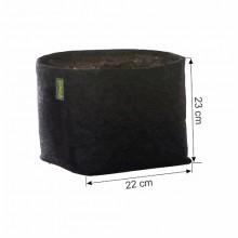 Doniczka materiałowa GRONEST 11L 22x22xh23cm, z uchwytami, dwuwarstwowa