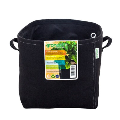 60L Growing Container Geotextile with Handles Smart Pots 15 GAL Bag Pot