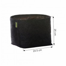 Doniczka materiałowa GRONEST 15L 24,5x24,5xh25cm, z uchwytami, dwuwarstwowa