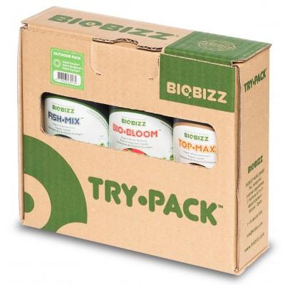 BioBizz Try Pack OUTDOOR - zestaw organicznych pożywek, 3x250ml