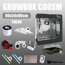 Zestaw do kiełkowania: Growbox C80SM 80x50x90cm + TNeon