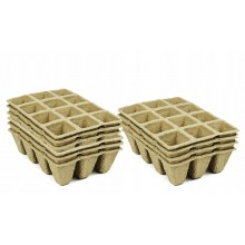 Square Peat Pots Tray for 120 seedlings (10 trays)