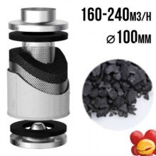 VF Carbon filter PRO-ECO 160-240m3/h, fi 100mm
