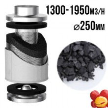 VF Carbon filter PRO-ECO 1300-1950m3/h, fi 250mm