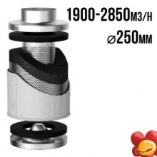 VF Carbon filter PRO-ECO 1900-2850m3/h, fi 250mm