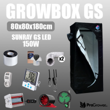 Komplettset: Growbox GS 80x80x180cm + Sunray GS LED 150W