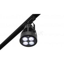 Lighting set VERTICANA 2x bulb + holder + rail, black, 45 ° lens