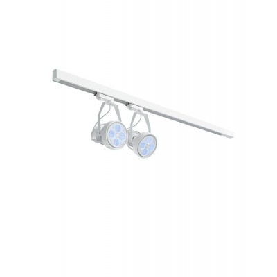 Lighting set VERTICANA 2x bulb + holder + rail, white, 80° lens