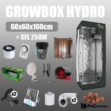 Komplettes HYDRO Kit: Growbox 60x60x160cm + CFL 250W
