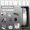 Komplettset: Growbox 40x40x120cm + CFL 125W Dual