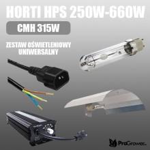 Horti HPS 250W-660W, CMH 315W, zestaw oświetleniowy, uniwersalny