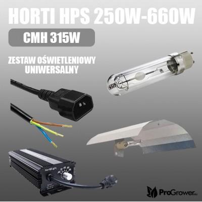 HPS Grow Light Kit Horti 250W-660W, CMH 315W, universal