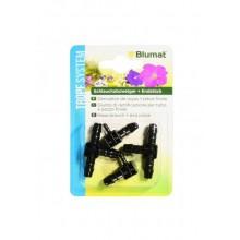 BlUMAT T-conn 8-8-8 + end conn 8-3, 2 pieces