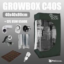 Keimungsset:: Growbox C40S 40x40x80cm + CFL 85W 6500K