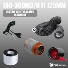 Ventilation Kit MAGNUM 180-300m3/h fi 125mm