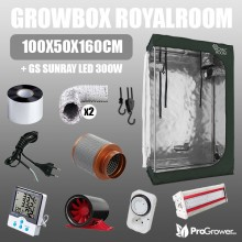 Zestaw do uprawy: Growbox RoyalRoom 100x50x160cm + GS Sunray LED 300W