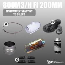 Ventilation Kit TD SILENT 800m3/h  fi 200mm