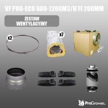 Ventilation Kit VF  PRO-ECO 800-1200m3/h  fi 200mm