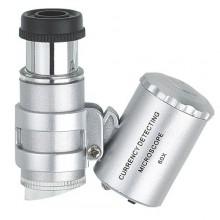 Mikroskop mini z podświetleniem, powiększenie x60