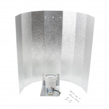 Reflector, small hammered finish 40 x 47 cm, bracket, E40 socket, screws
