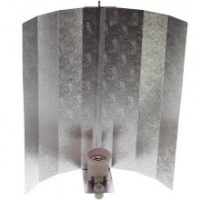 Reflector Hood, hammered finish, 47 x 47 cm, bracket, lampholder, luster terminal