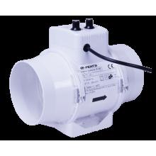 Wentylator kanałowy 2-biegowy 220-280m3/h, fi 125mm - z regulacją temperatury i obrotów