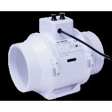 Wentylator kanałowy 2-biegowy 405-520m3/h, fi 150mm - z regulacją temperatury i obrotów