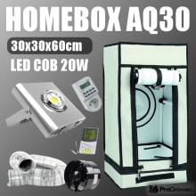 Complete Set LED Mini: Homebox AQ30 + LED COB 20W